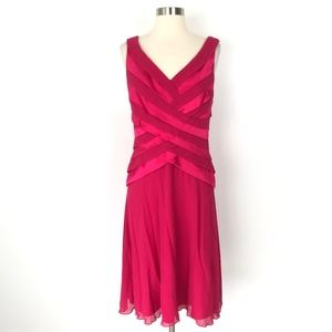 Tadashi Collection | Silk Fuchsia Pink Dress